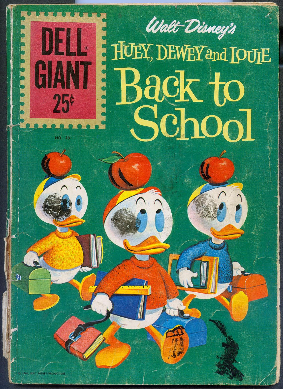 Dell Giant 49 (Huey Dewey And Louie Back To School) -G