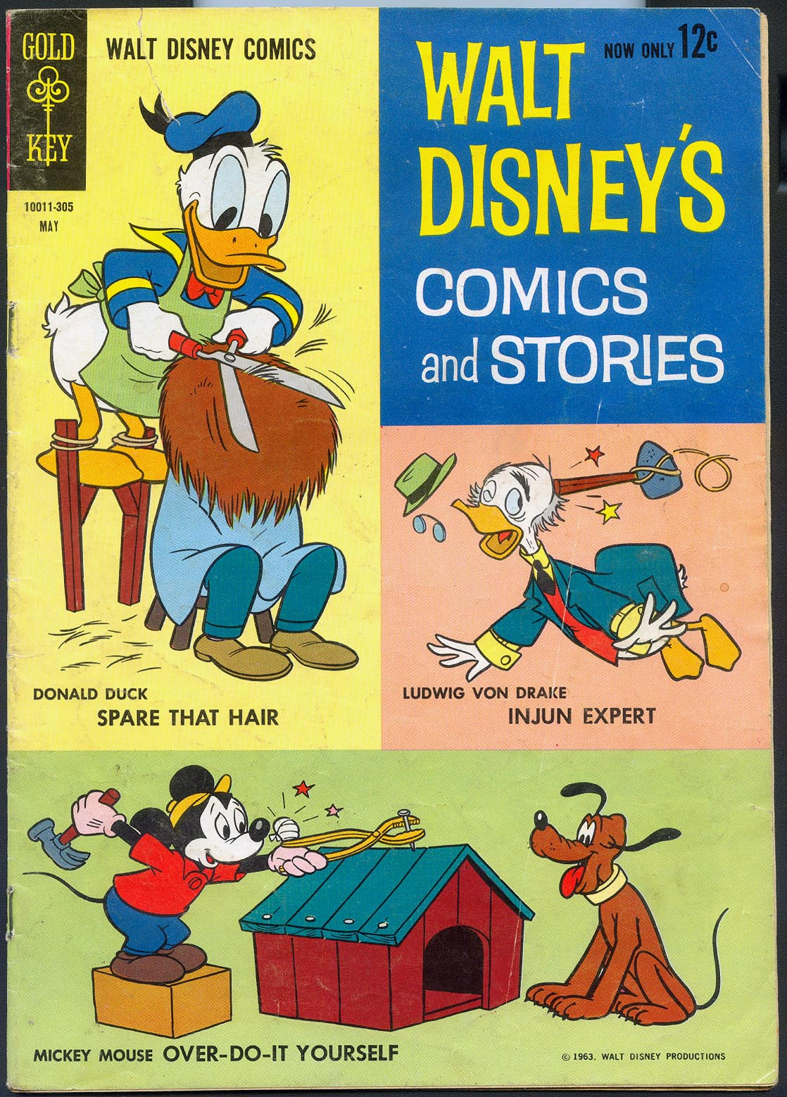 Walt Disneys Comics and Stories (Gold Key) 272 (Also Vol 23 - 8 ) (No Ad Variant) -VG