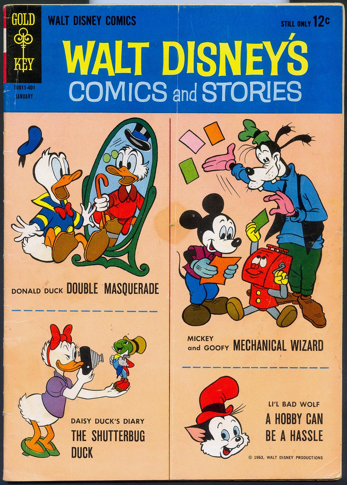 Walt Disneys Comics and Stories (Gold Key) 280 (Also Vol 24 - 4 ) -VG