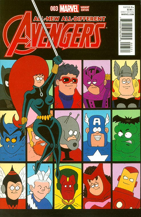 All-New All-Different Avengers 3 ( 1 in 10 Fred Hembeck Variant)