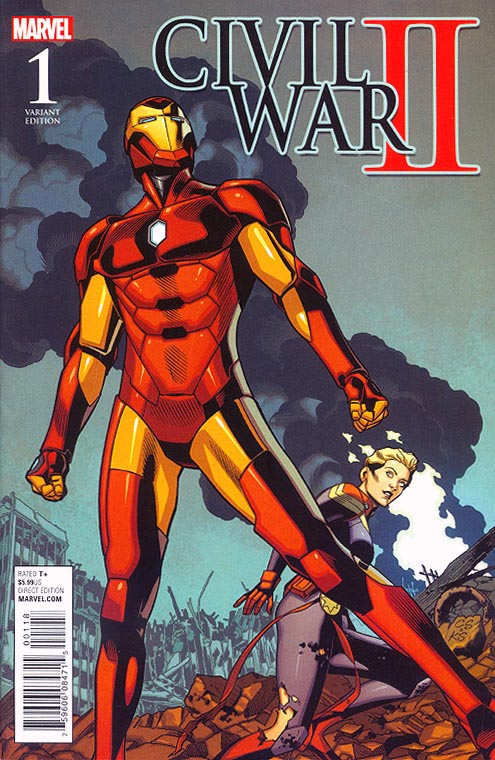 Civil War II- 1 ( 1 in 15 Chris Sprouse Battle Variant)