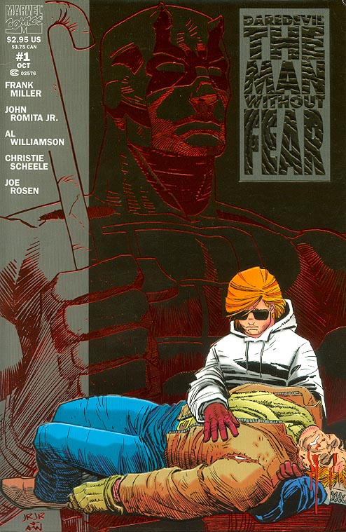 Daredevil The Man Without Fear 1 (Embossed Red Foil Cover) -VFNM