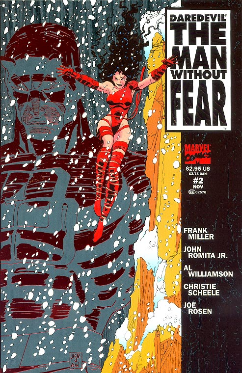 Daredevil The Man Without Fear 2 (Embossed Red Foil Cover)