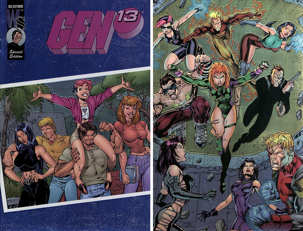Gen 13 Special Edition Gen 13 Family Photo chrome Front & Back Covers ( 1 of 1200 )