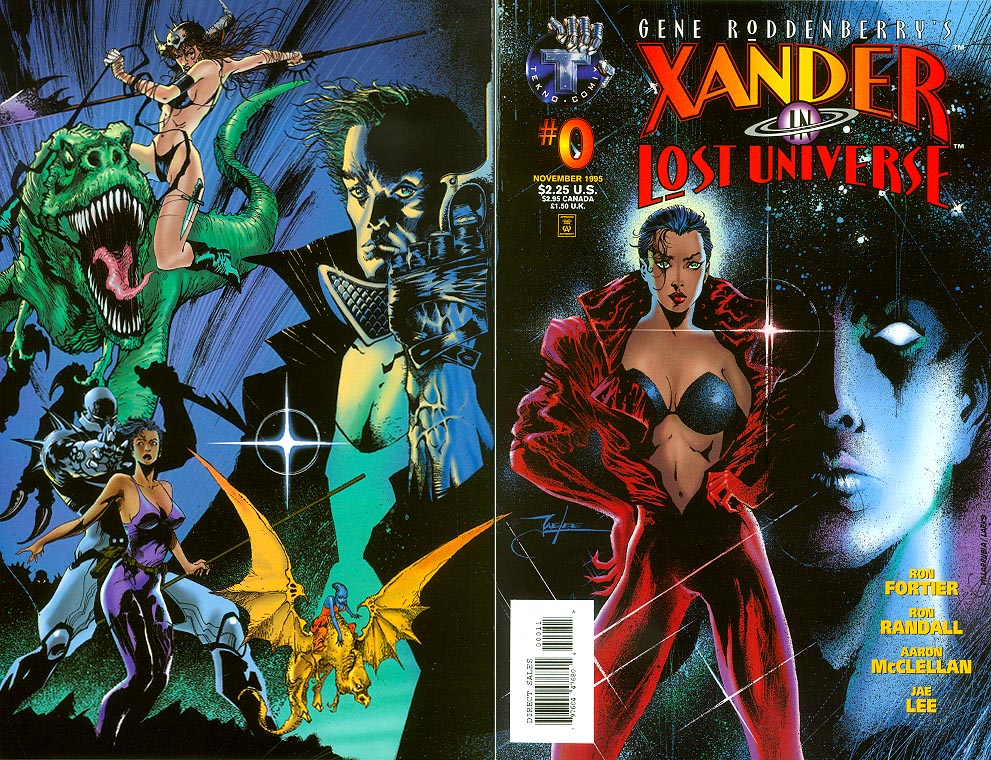 Gene Roddenberrys Xander In Lost Universe 0 (Wraparound Cover)