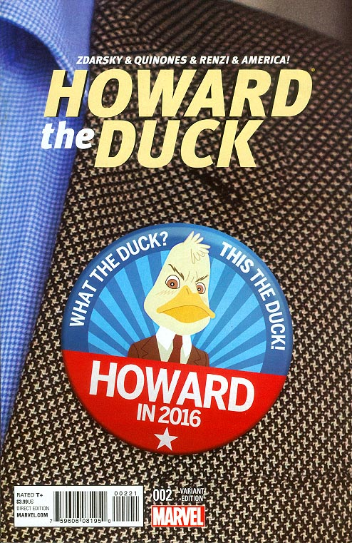 Howard The Duck vol 5 - 2 ( 1 in 20 Chip Zdarsky Vote Howard Variant)