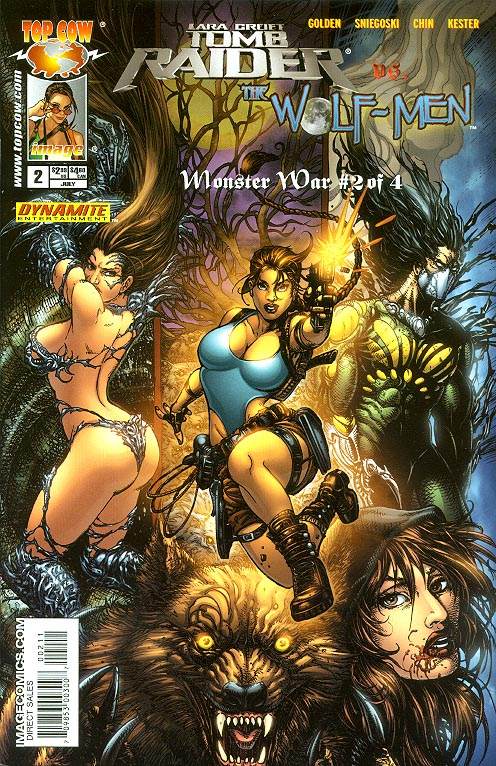 Tomb Raider Vs The Wolf-Men Monster War 2 A (Joyce Chin Cover)