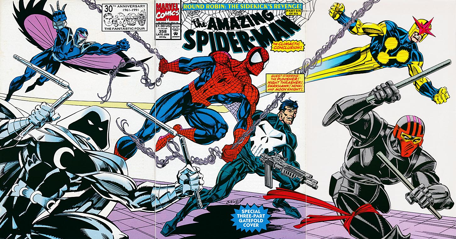 Amazing Spider-Man 358 (Tri-Gatefold Cover)