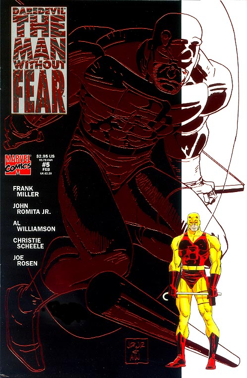 Daredevil The Man Without Fear 5 (Embossed Red Foil Cover) -VF