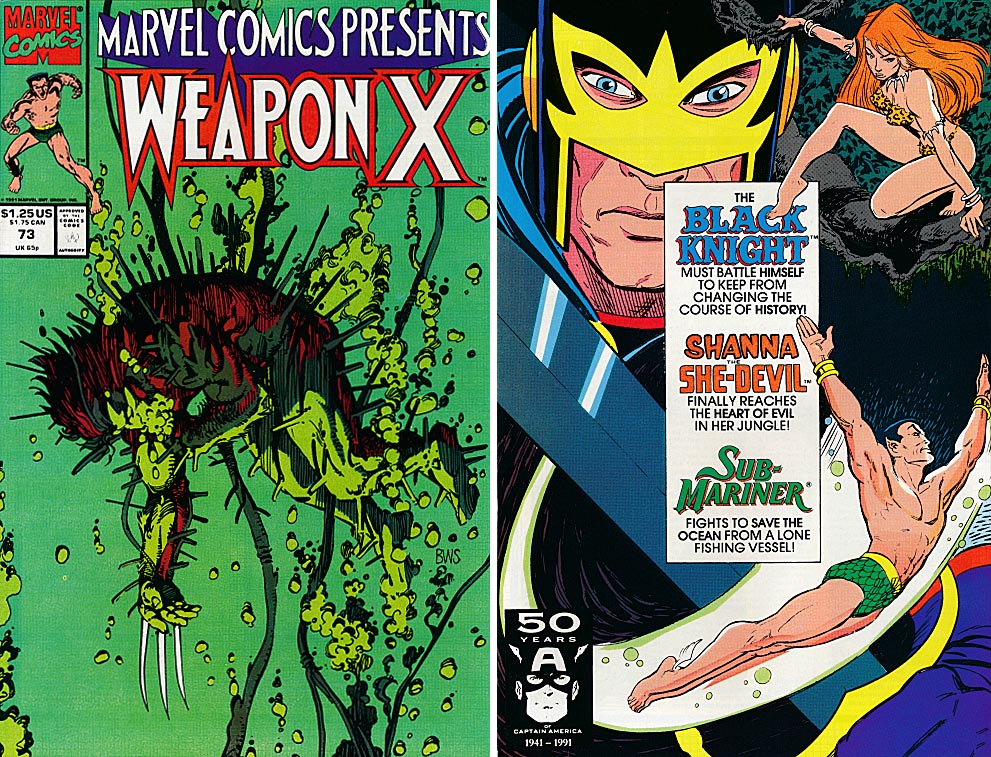 Marvel Comics Presents 73 (Front & Back Covers)