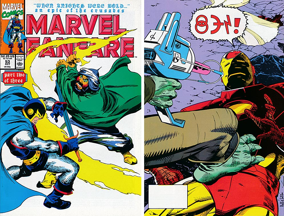 Marvel Fanfare 53 (Front & Back Covers)