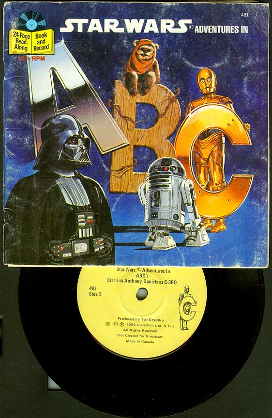 Star Wars Adventures In ABC Book And Record Set-VG