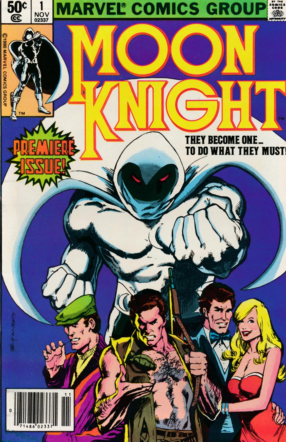 Moon Knight vol 1 - 1 (Newstand) -NM