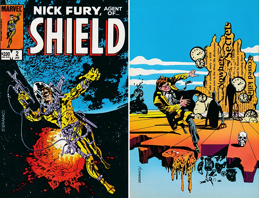 Nick Fury Agent Of SHIELD vol 2 - 2 (Front & Back Covers) -VF