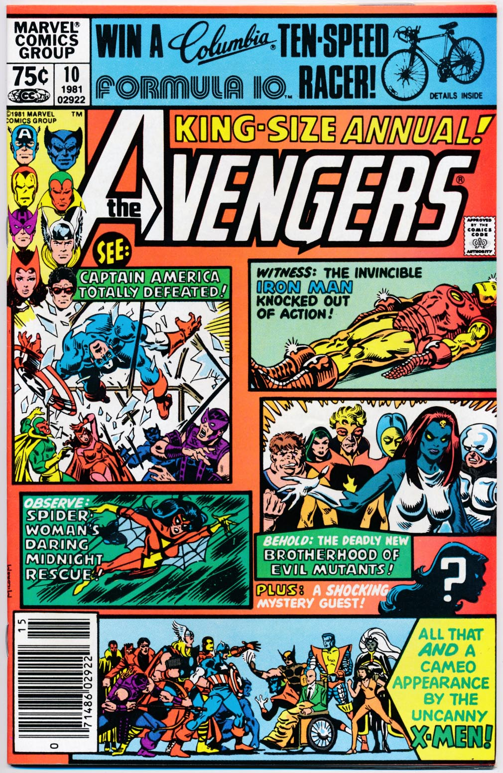 Avengers King-Size Annual 10 (Newstand) -NM