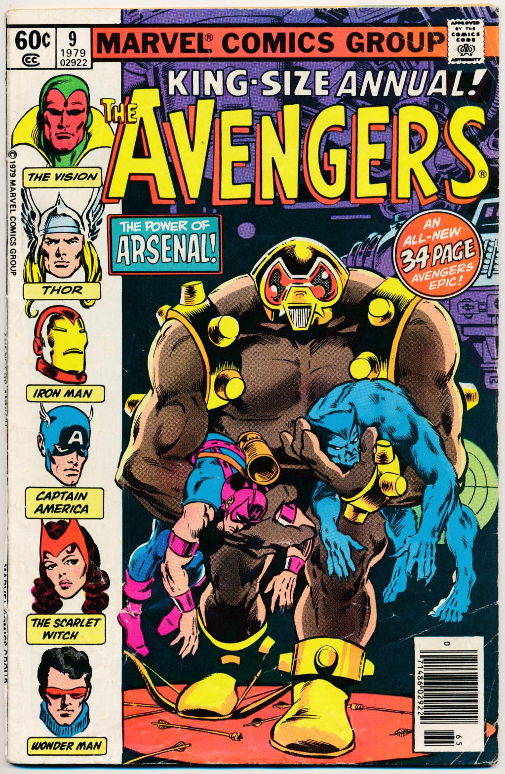 Avengers King-Size Annual 9 -G