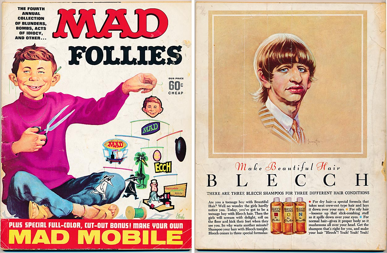 A Collection Of Mad Follies Annual 4 (Fron & Back Covers) -VG