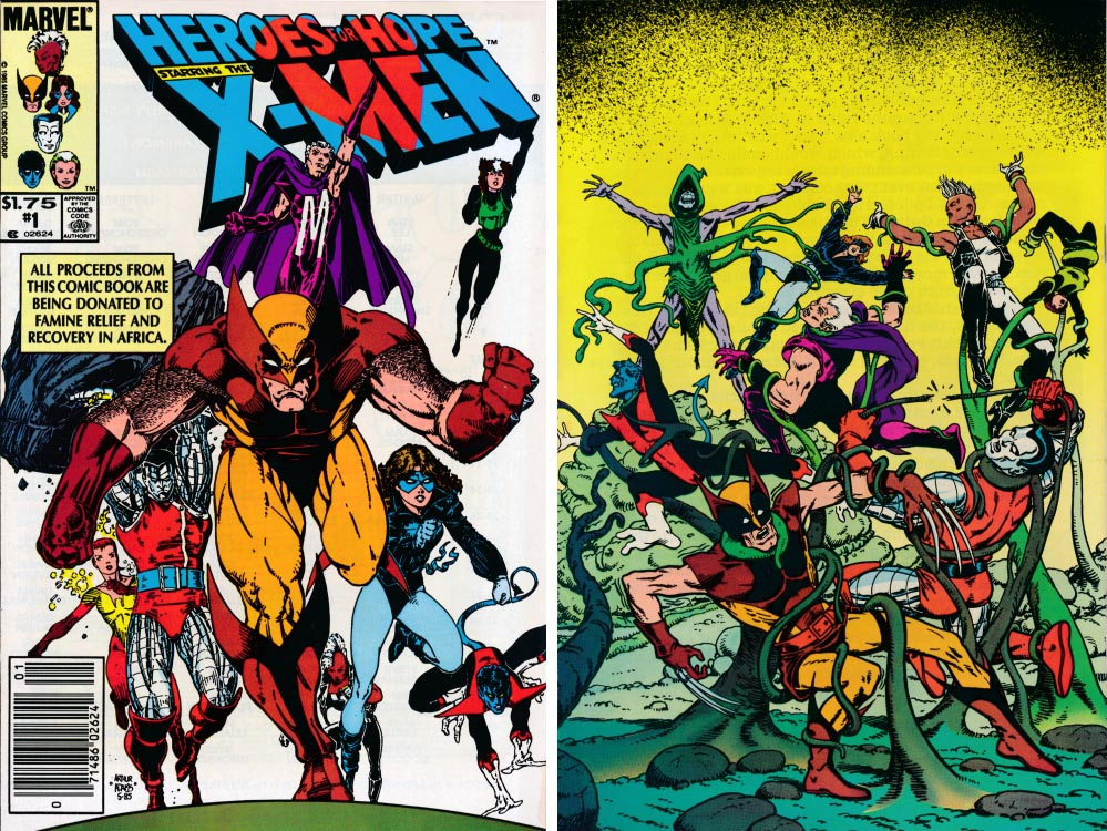 Heroes For Hope Starring The X-Men (Front & Back Covers)