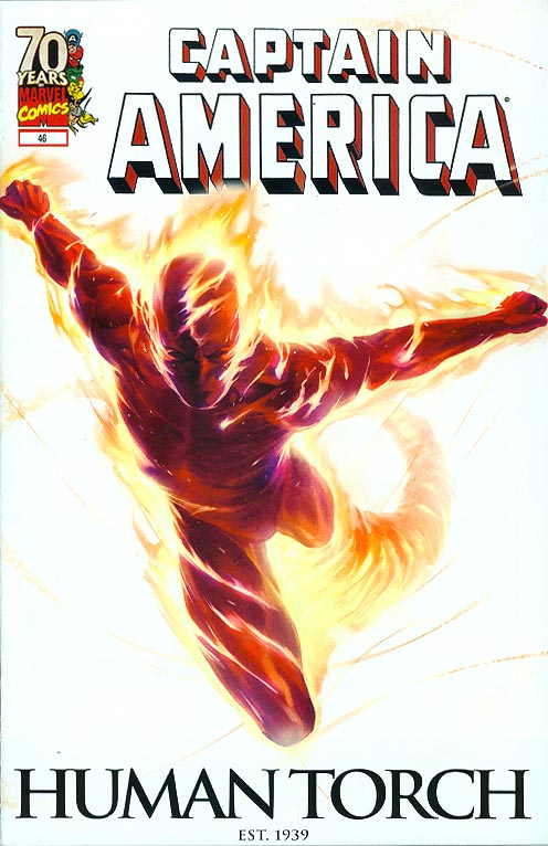 Captain America vol 5 - 46 ( 70 th Anniversary Human Torch Variant)
