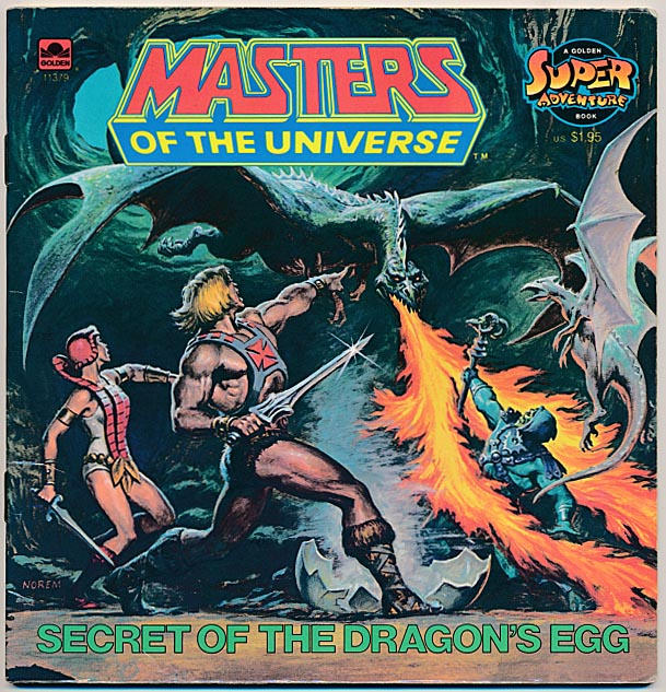 Masters Of The Universe Secret Of The Dragons Egg (Golden Books) -F