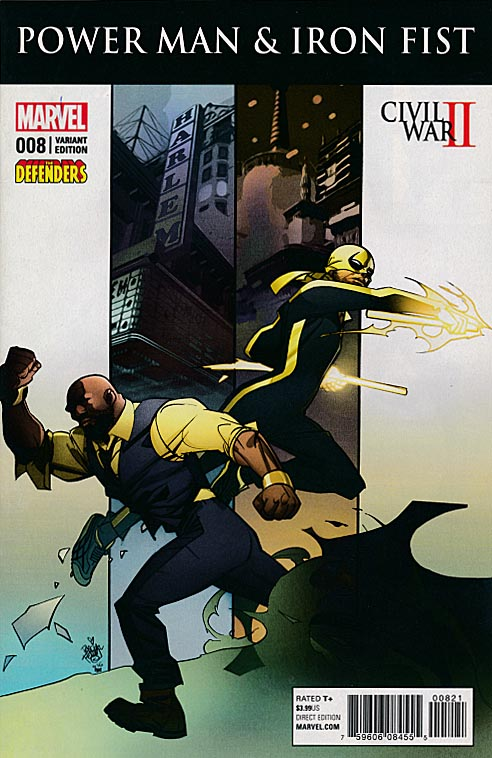 Power Man And Iron Fist vol 3 - 8 (Pasqual Ferry Defenders Variant)