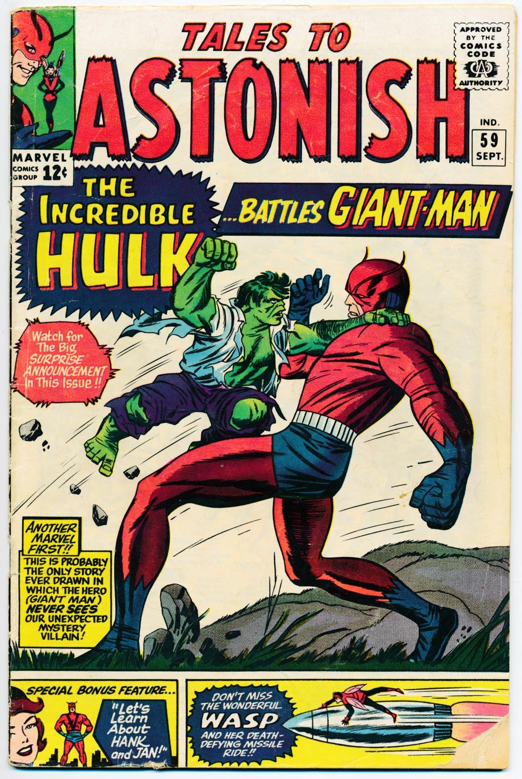 Tales To Astonish 59 -VG
