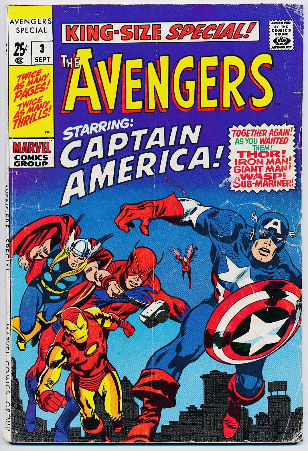 Avengers King-Size Special 3 -VG