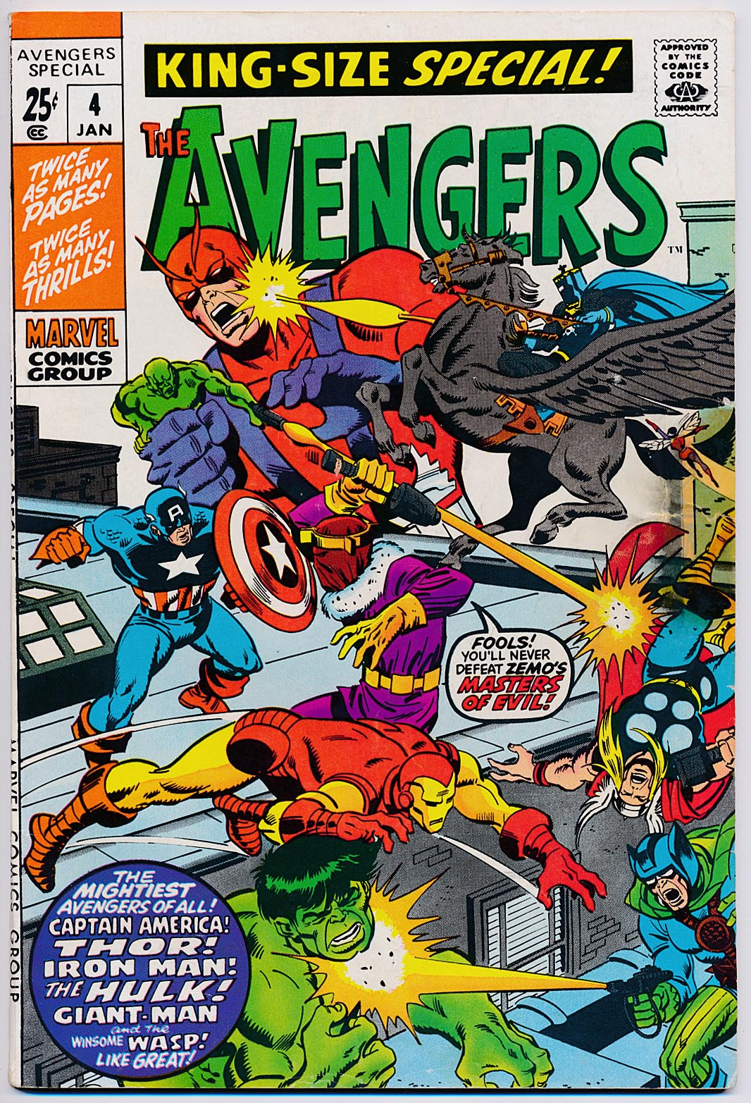 Avengers King-Size Special 4 -VG