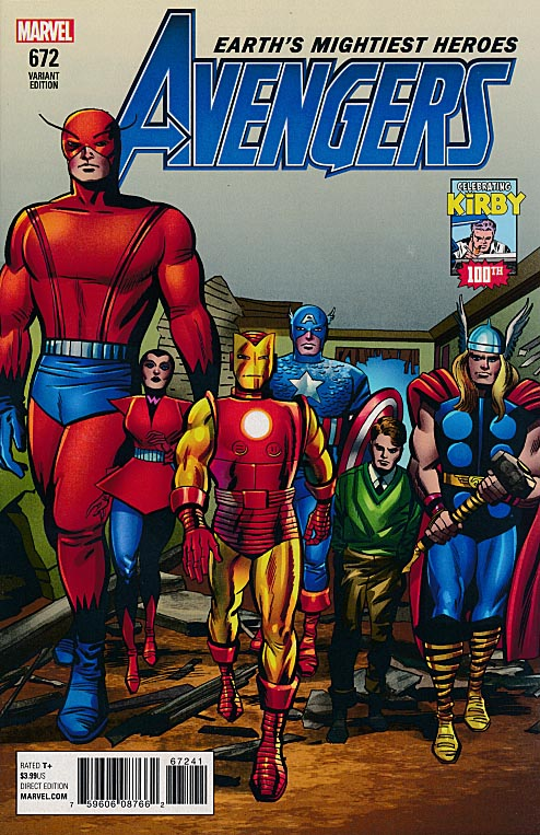Avengers vol 7 - 672 ( 1 in 10 Jack Kirby Kirby 100 th Birthday Variant)