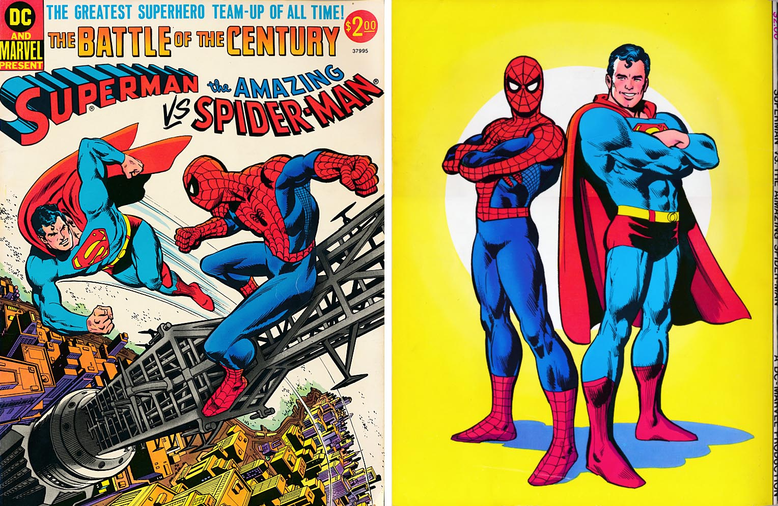 Superman Vs The Amazing Spider-Man (Front & Back Covers)