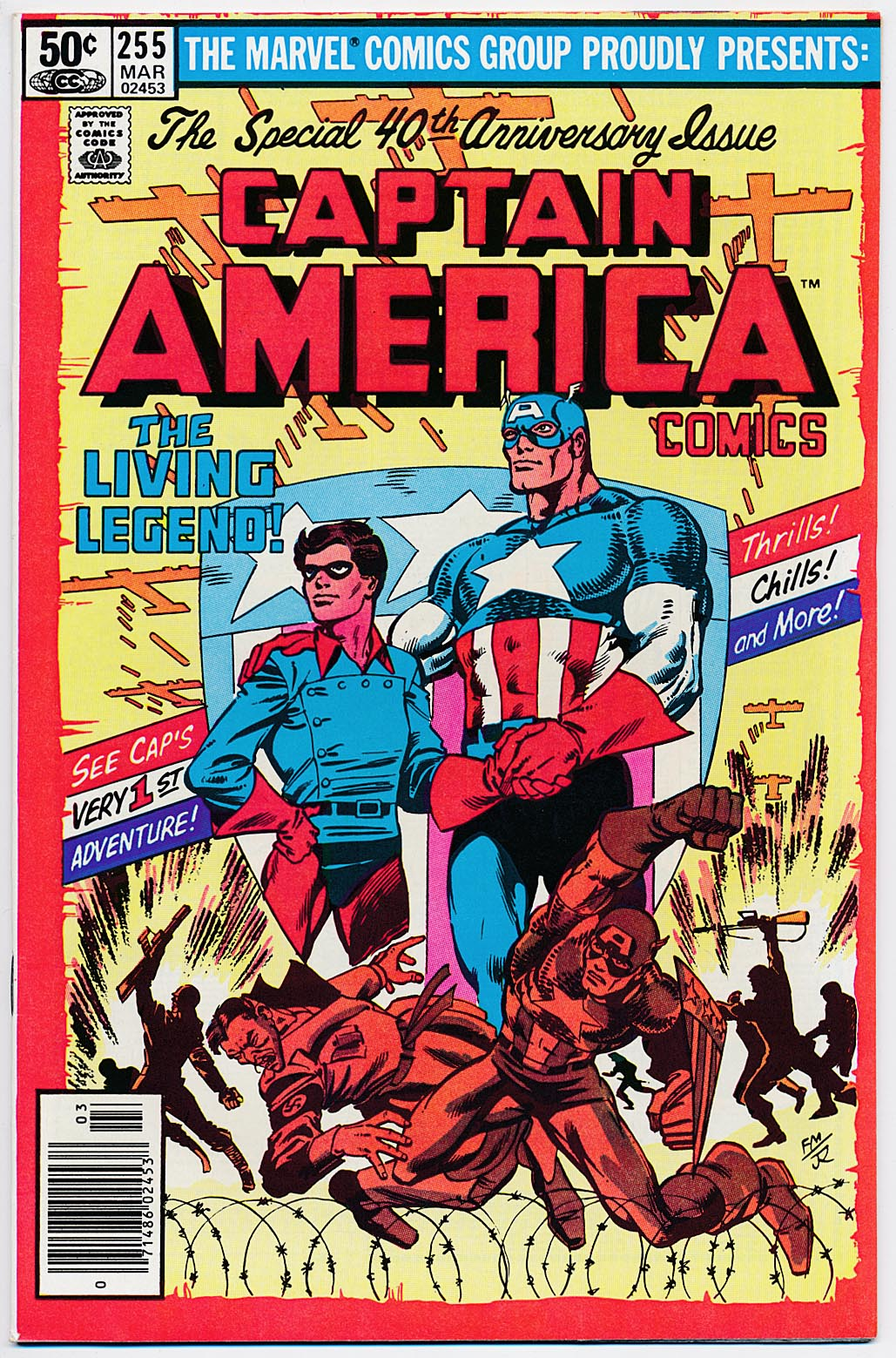 Captain America 255 (Newstand) -VFNM