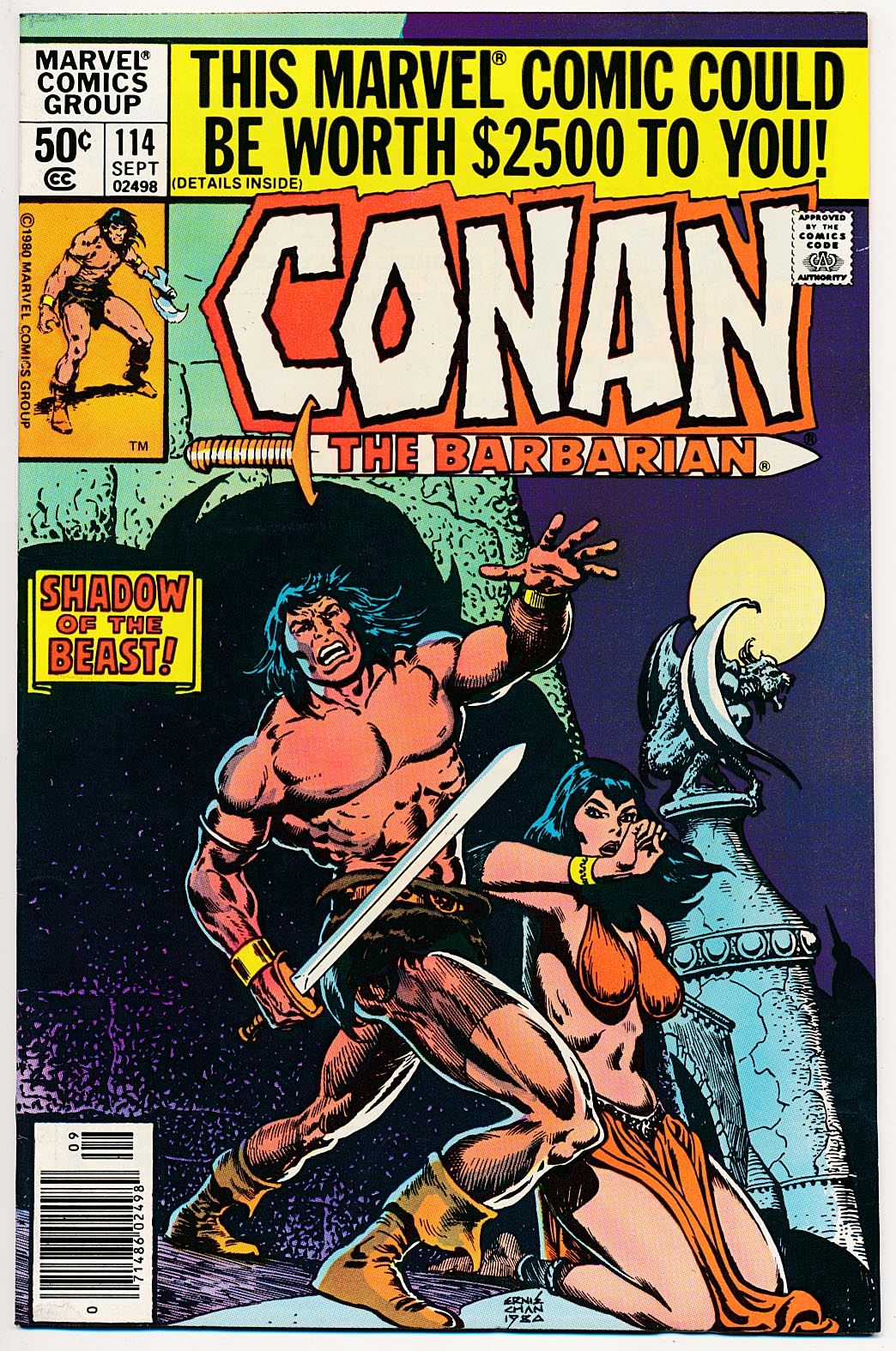 Conan The Barbarian (Marvel) 114 (Newstand Ed) -VF