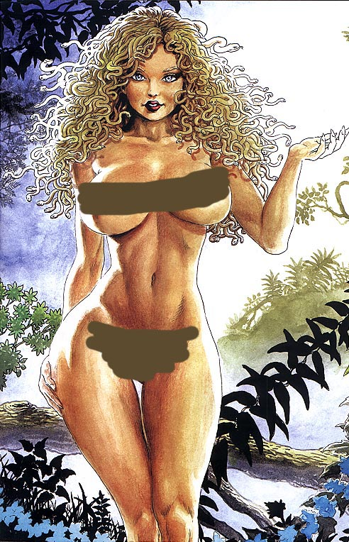 Cavewoman Budds Beauties & Beasts 2 (Blonde Medusa Nude Censored Special Edition 1 of 750 )