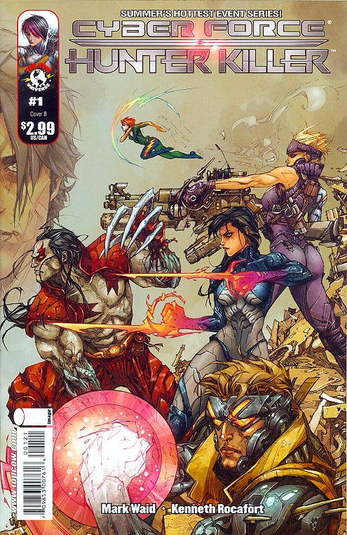 Cyberforce Hunter Killer 1 B (Kenneth Rocafort Cvr)