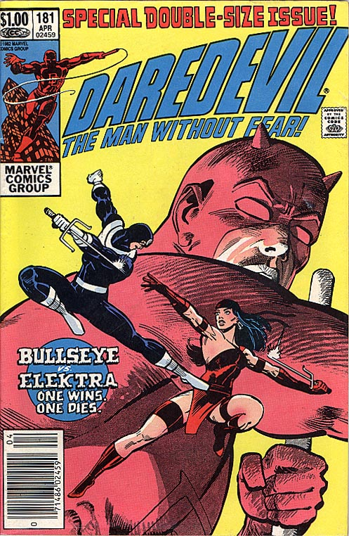 Daredevil 181 (Death Of Elektra Frank Miller)