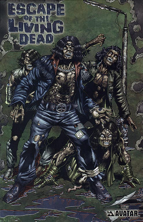 Escape Of The Living Dead (Avatar) 1 (Platinum Foil Order Incentive Variant 1 of 1550 )