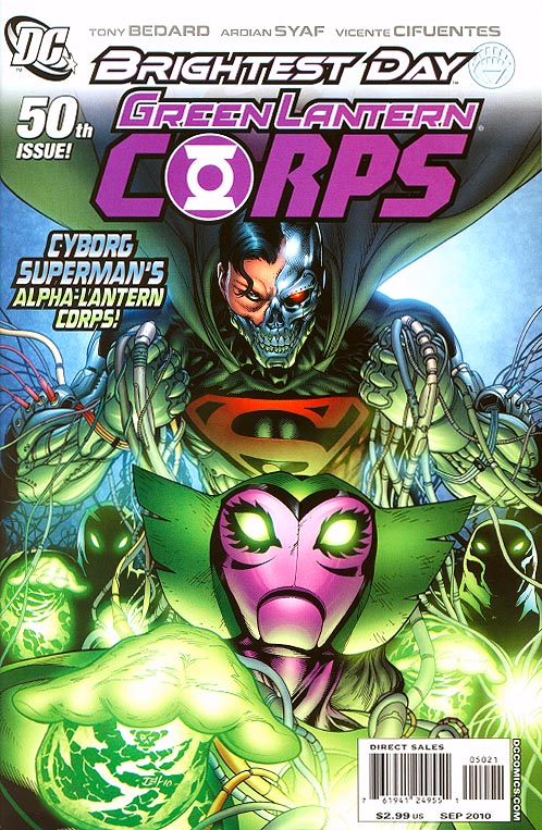 Green Lantern Corps 50 ( 1 in 25 Incentive Gleason Variant)