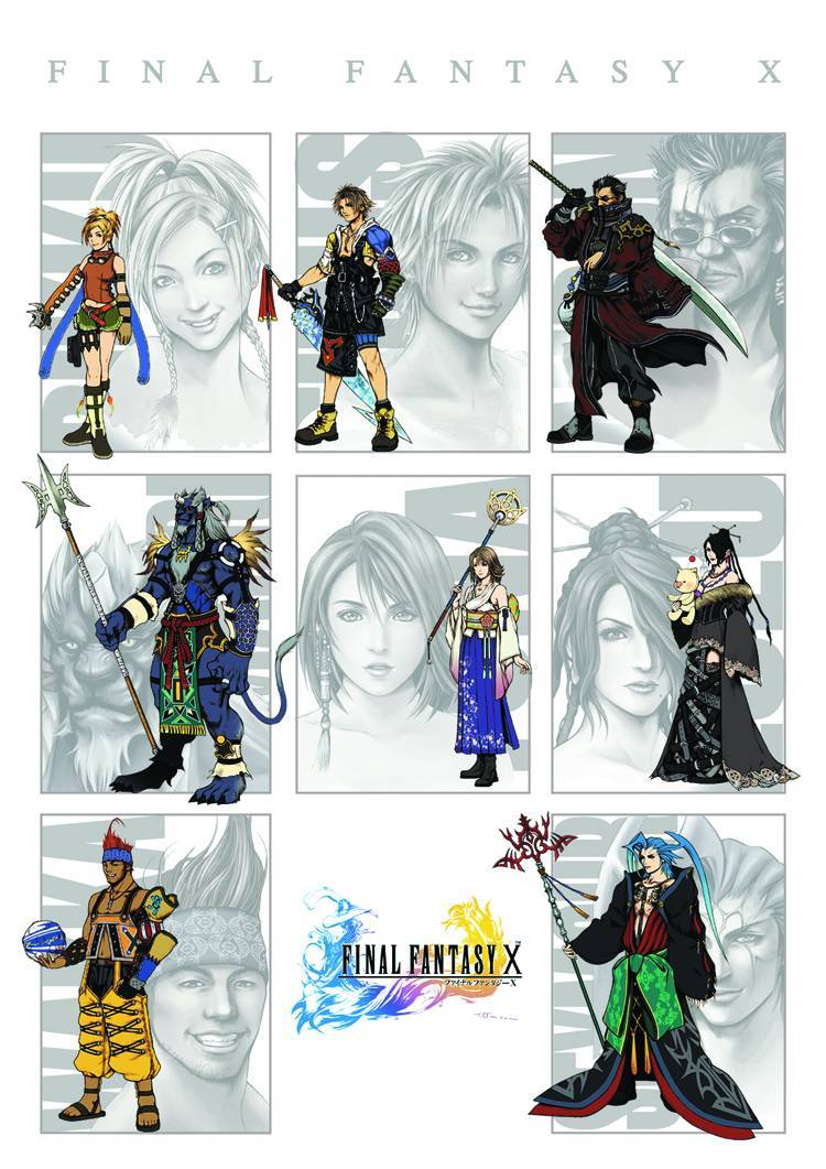 FFX Illustrated Cast Poster