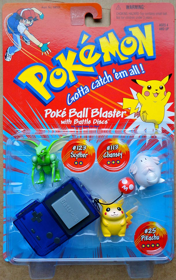 Pokemon Poke Ball Blasers 123 Scyther 113 Chansey 25 Pikachu
