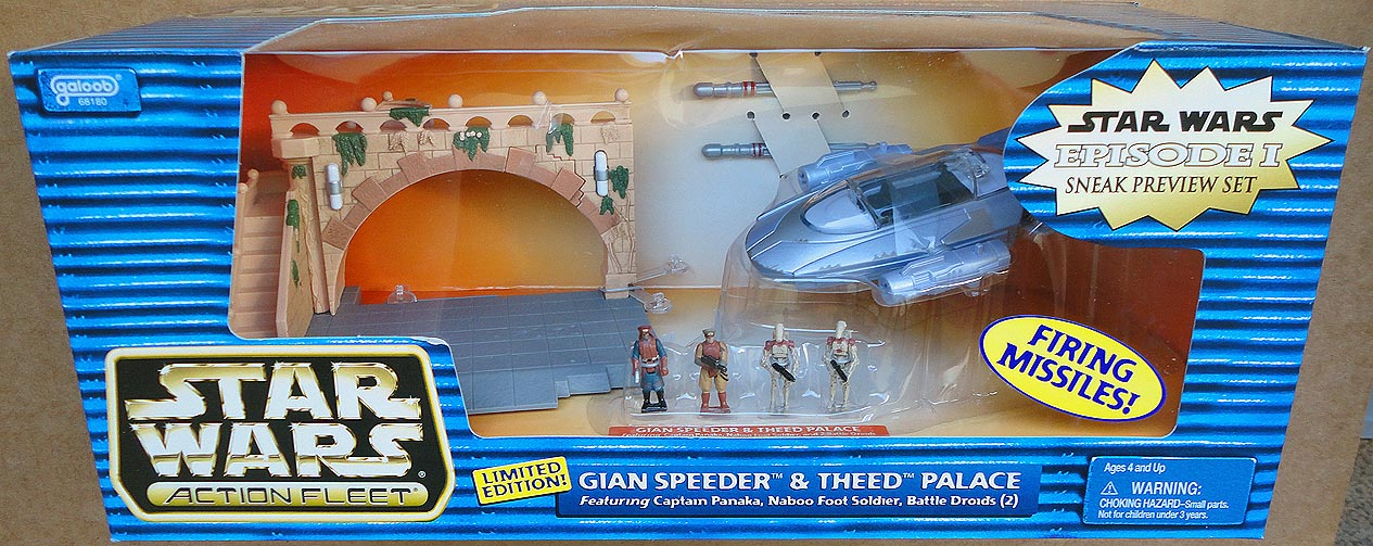 Star Wars Action Fleet Ep 1 Gian Speeder&Theed Palace