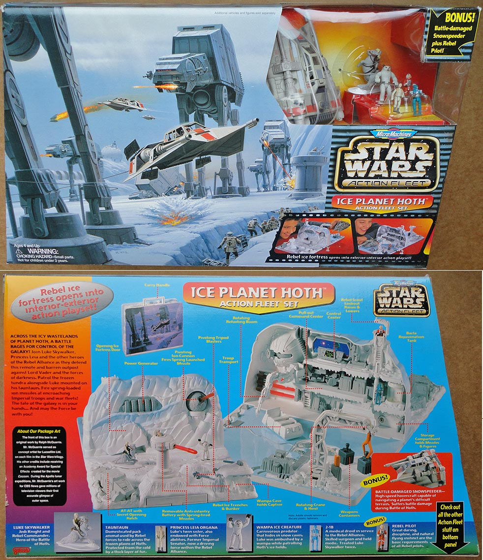 Star Wars Action Fleet Micro Machines Ice Planet Hoth