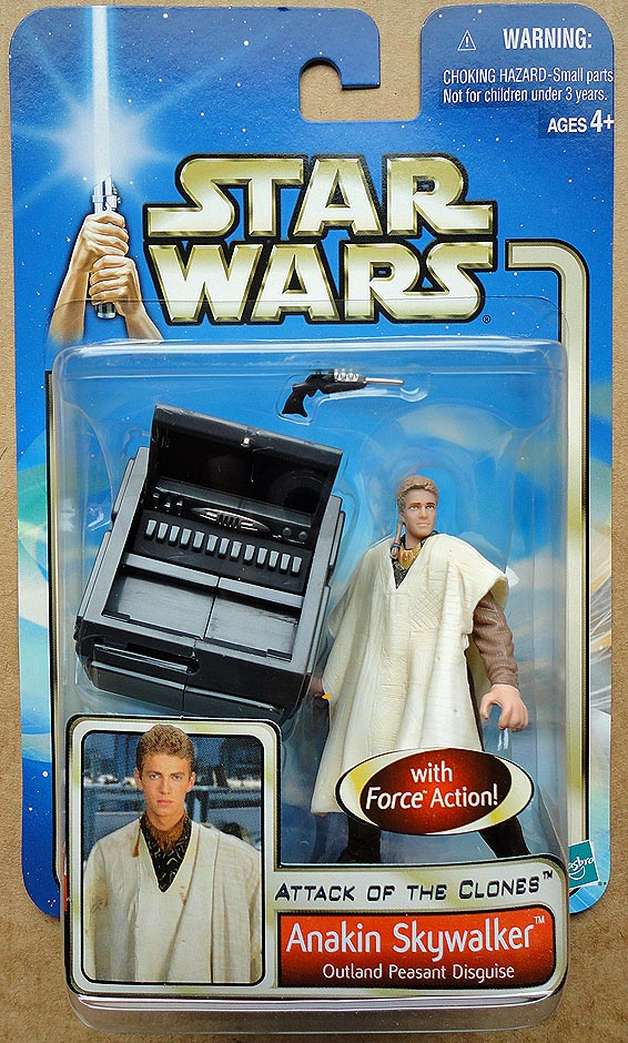 Star Wars Attack Of The Clones Collection 1 Anakin Skywalker Outland Peasant Disguise