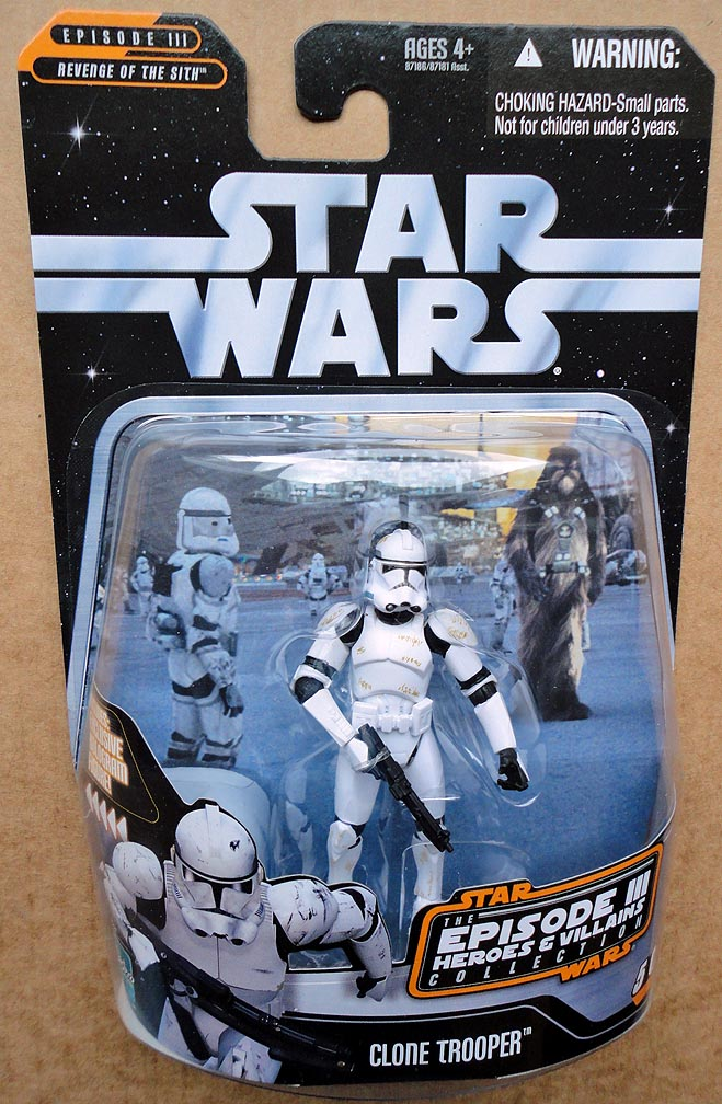 Star Wars Episode 3 Heroes&Villains Collection Clone Trooper
