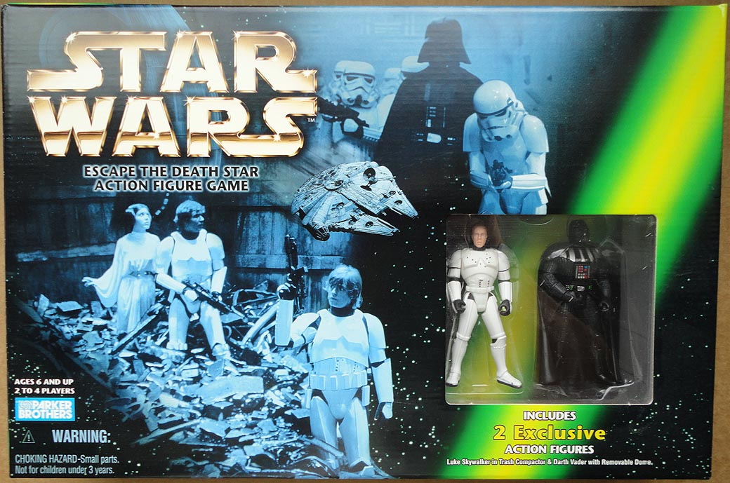 Star Wars Escape The Death Star Action Figure Game With Excl Luke&Vader Figures