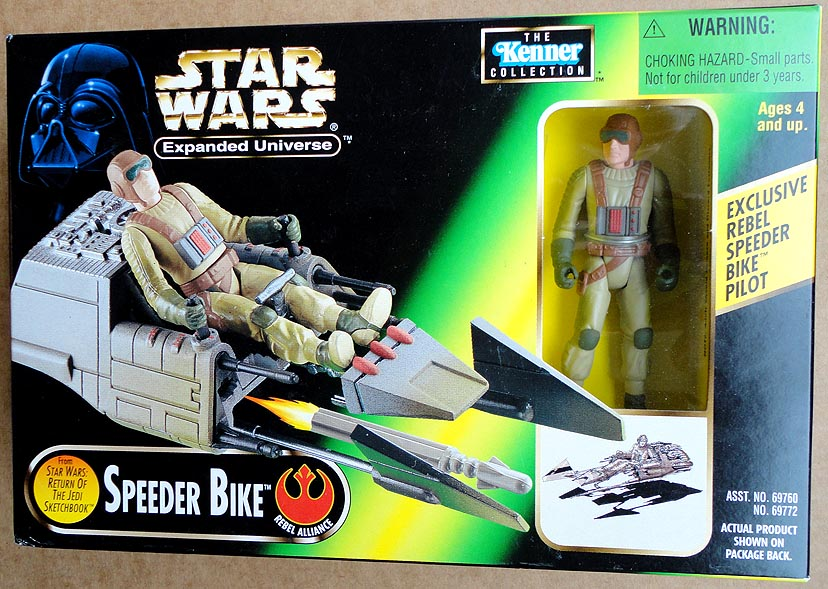 Star Wars Expanded Universe Speeder Bike&Excl Rebel Speeder Bike Pilot