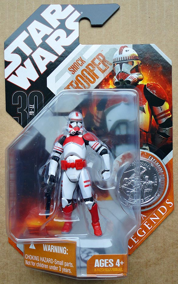 Star Wars Saga Legends With Coin Shock Trooper