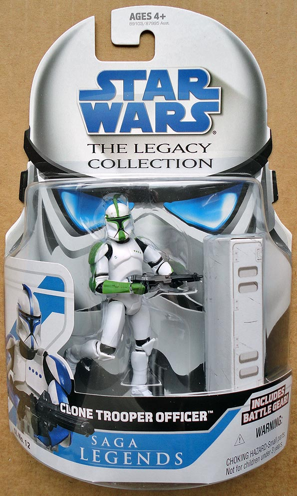 Star Wars Legacy Collection Green Clone Trooper Officer