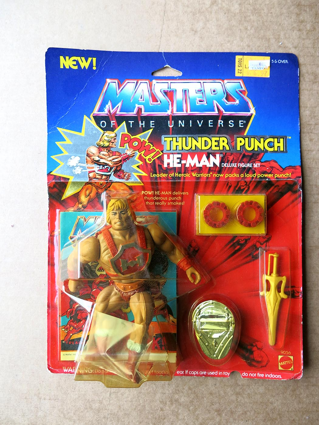 MOTU 1985 Thunder Punch He-Man MOC (Toys 22 Label)