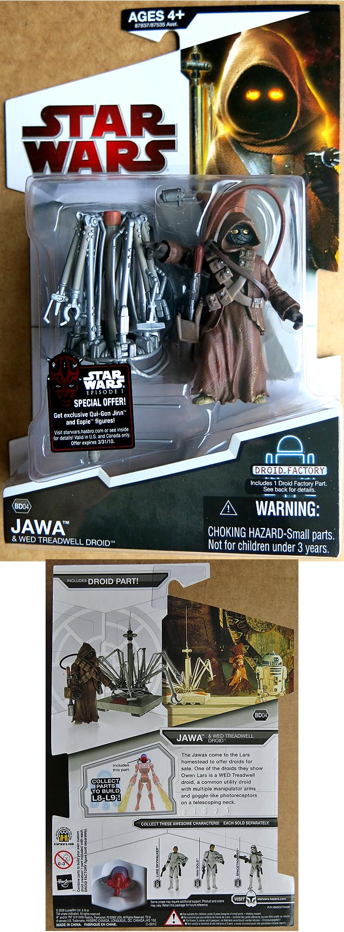 Star Wars Legacy Collection Jawa&Wed Treadwell Drois BD 04