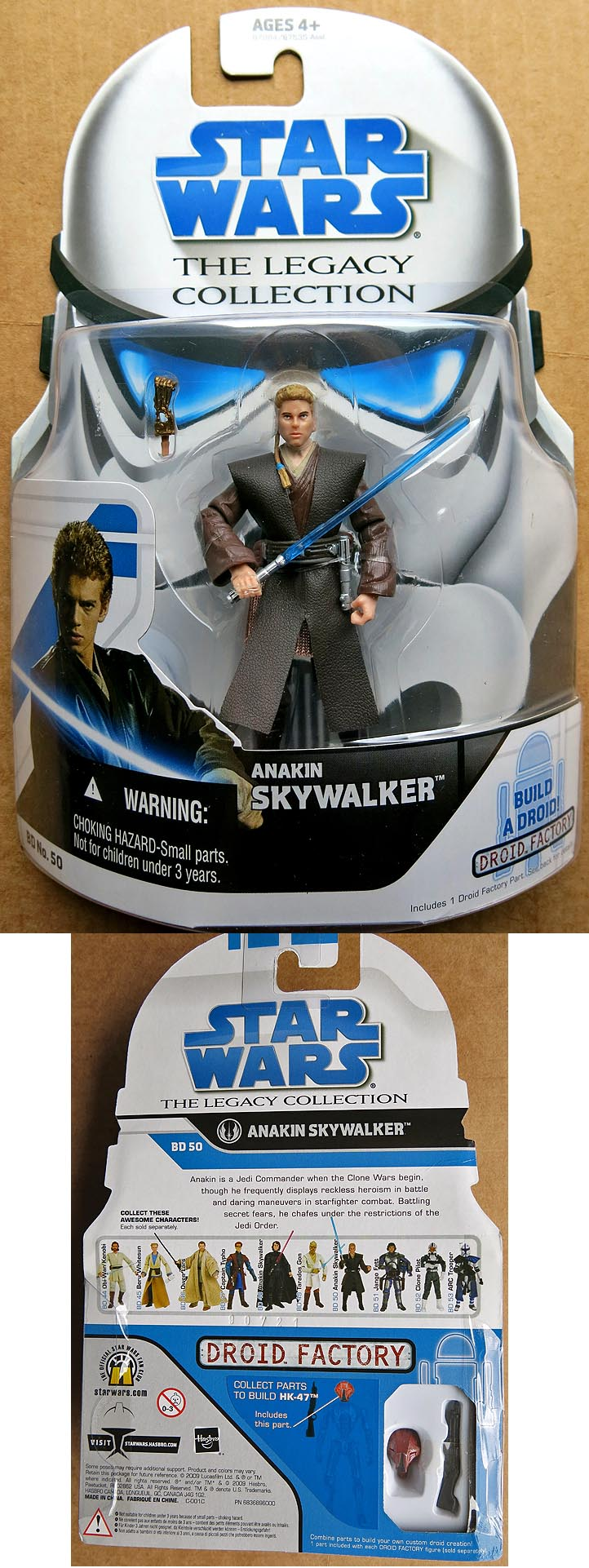 Star Wars The Legacy Collection Aakin Skywalker BD 50